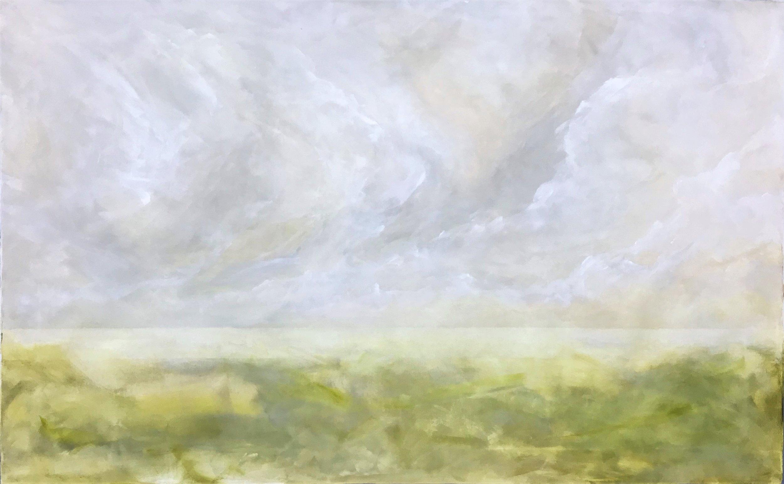"""Seascape VIII   2018 30"""" x 48"""" (76.2 x 121.9 cm) acrylic on canvas"""