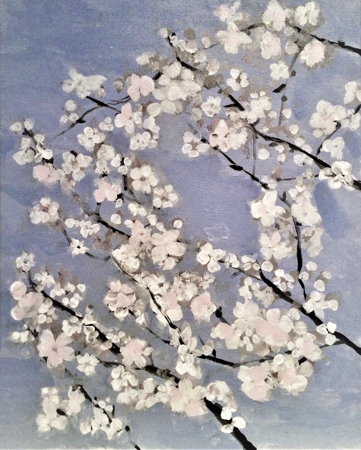 "Early Spring   2013  20"" x 16"" (50.8 x 40.6 cm)  acrylic on canvas    $1,950"
