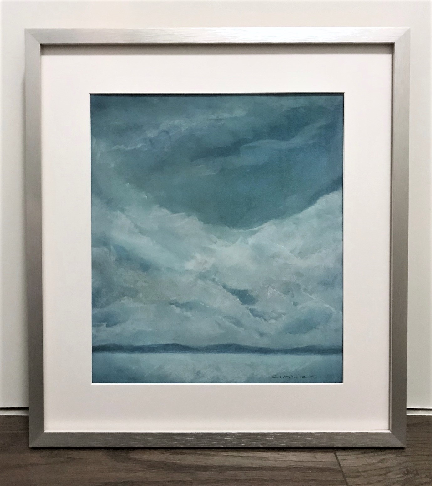 """Seascape V   2014  16"""" x 14"""" (40.6 x 35.6 cm) 
