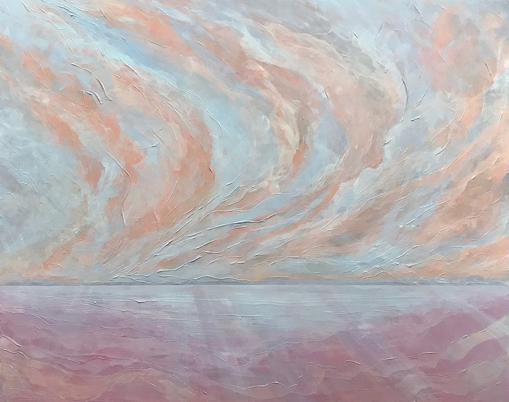 """Seascape VII   2018 48"""" x 60"""" (121.9 x 152.4 cm) acrylic on canvas   PRIVATE COLLECTION  🔴  Rye, New York"""