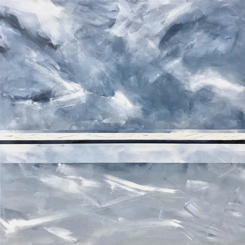 "Seascape XI   2018  24"" x 24"" (61.0 x 61.0 cm)  acrylic on canvas    $2,800       Arte Collective Hamptons Gallery"