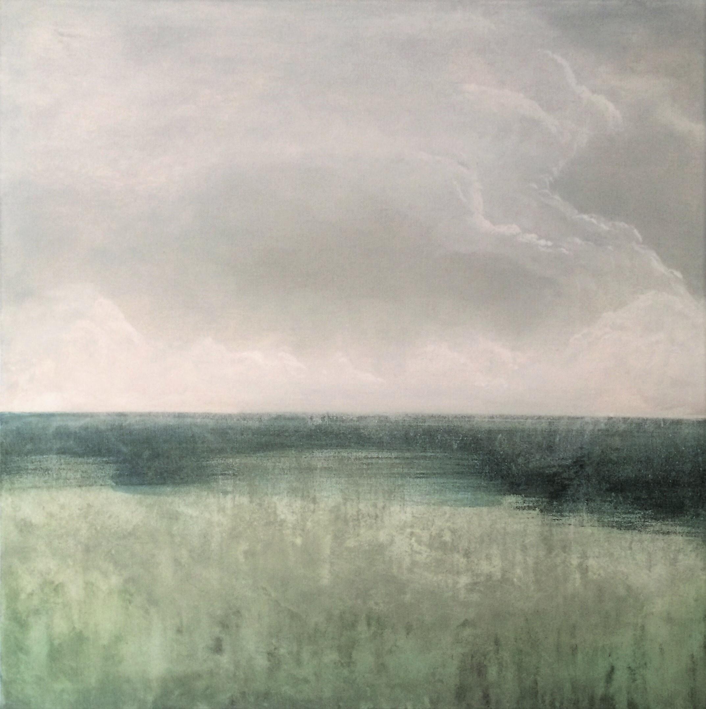 "Seascape II   2013  30"" x 30"" (76.2 x 76.2 cm)  acrylic on canvas    $4.500     🔵"