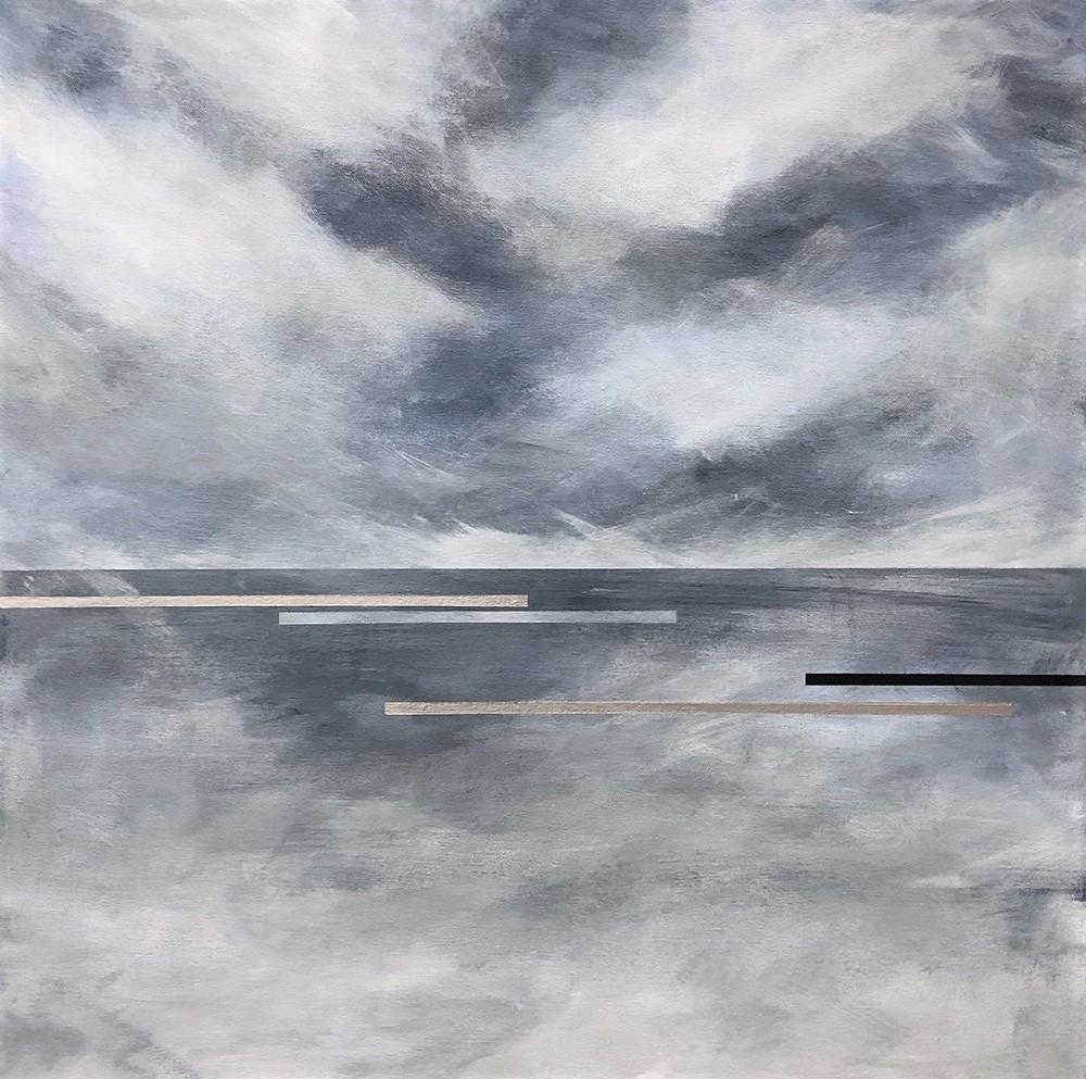 "Seascape XIII   2019 24"" x 24"" (61.0 x 61.0 cm)  acrylic on canvas    $2,800       Arte Collective Hamptons Gallery"