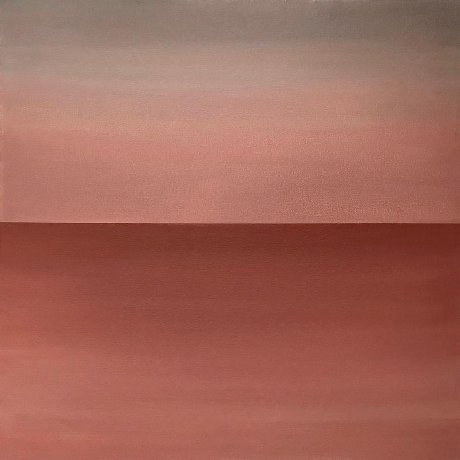 "Seascape XIV   2019 (sunrise version) 24"" x 24"" (61.0 x 61.0 cm)  acrylic on canvas    $2,800       Arte Collective Hamptons Gallery"