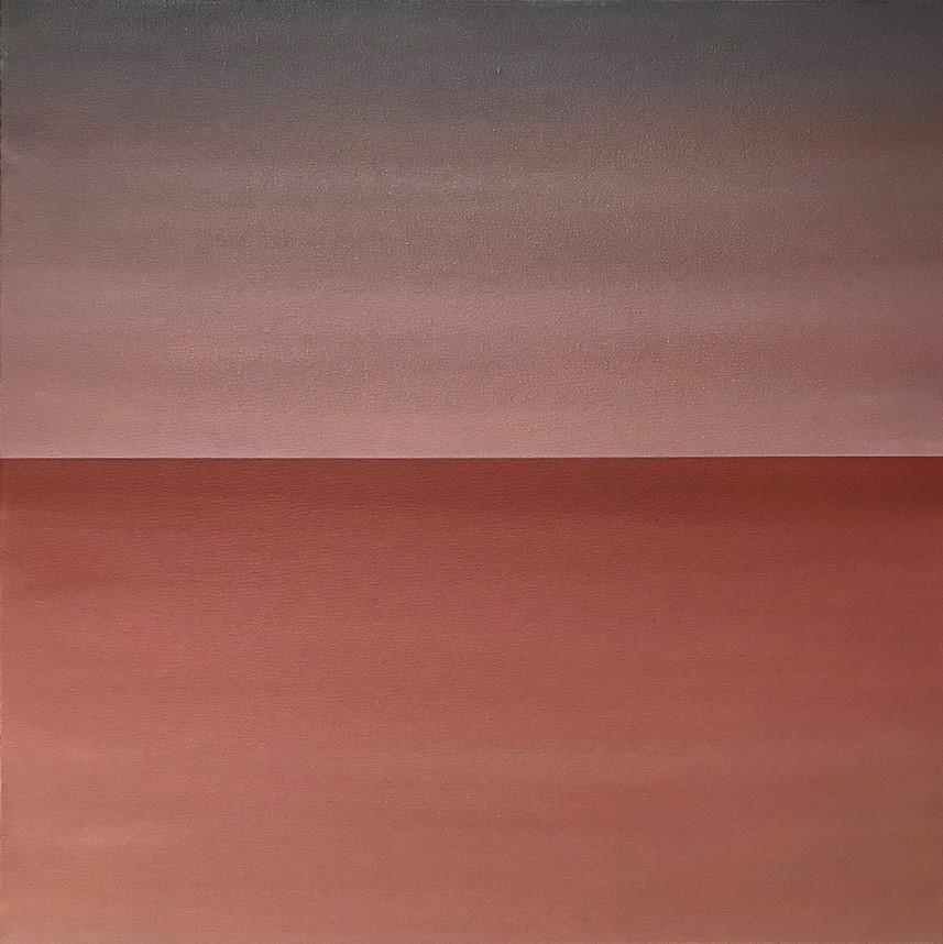 "Seascape XV   2019 (sunrise version) 24"" x 24"" (61.0 x 61.0 cm)  acrylic on canvas    $2,800       Arte Collective Hamptons Gallery"