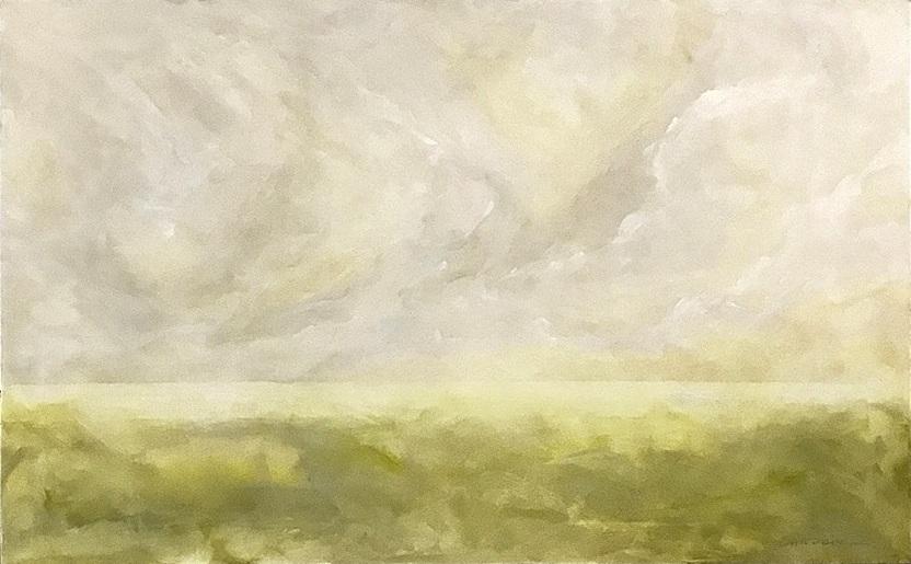 """Seascape VIII   2018  30"""" x 48"""" (76.2 x 121.9 cm) acrylic on canvas    $3.250"""