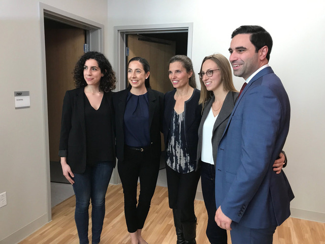 Meeting the minister of science - Inspiring Diversity in STEM 2018/2019 Co-Chairs meeting with the Minister of Science, Kirsty Duncan, and with London North Centre MP Peter Fragiskatos to discuss our diversity in STEM initiatives.(Pictured left to right: Ramina Adam, Nicolette Armstrong, Kirsty Duncan, Avital Sternin, Peter Fragiskatos)