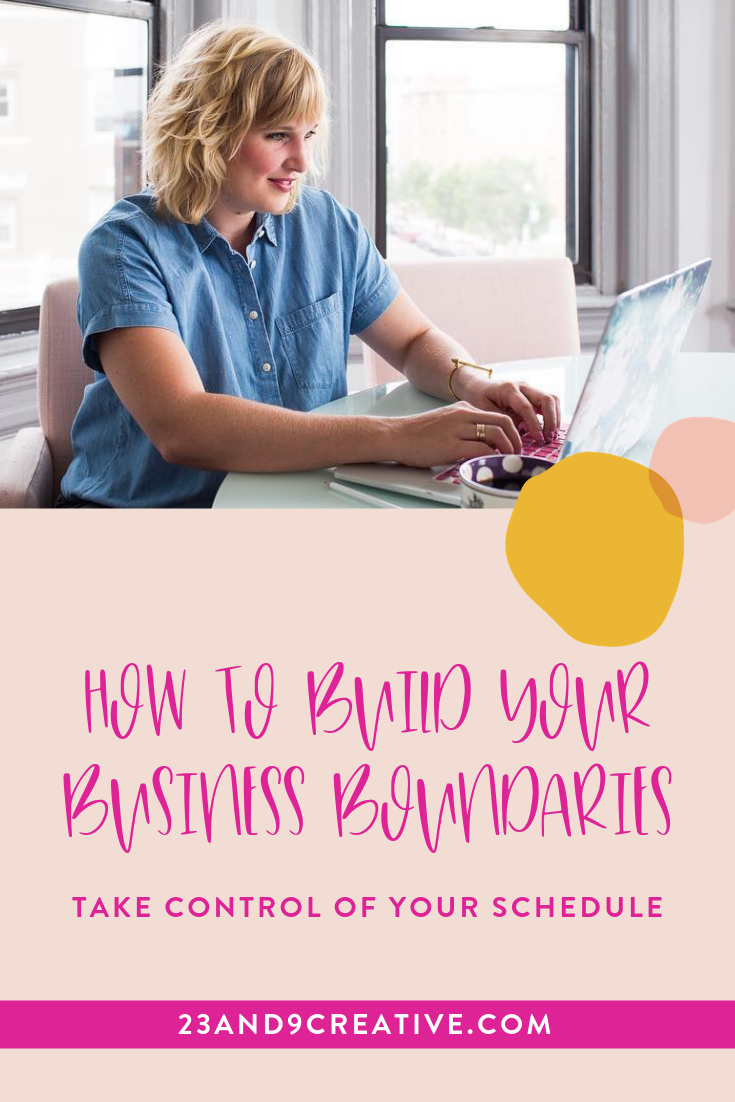 As a business owner, you often want to seem friendly and feel the need to respond to an inquiry almost right away. You don't take time to think through the implications of our boundaries until you are close to burnout. By setting boundaries in your business, you can create a better work-life balance.