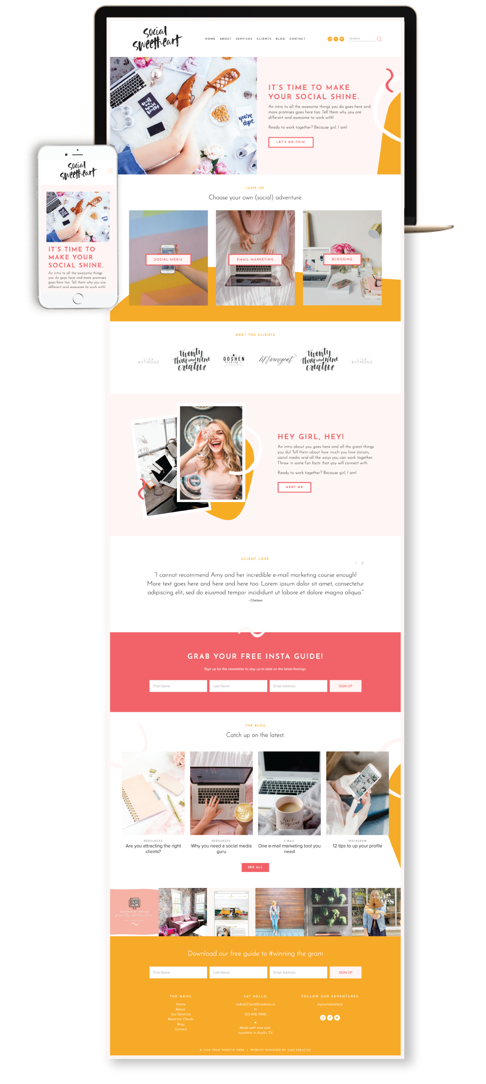 Squarespace Website Template For Social Media Managers 23 9 Creative
