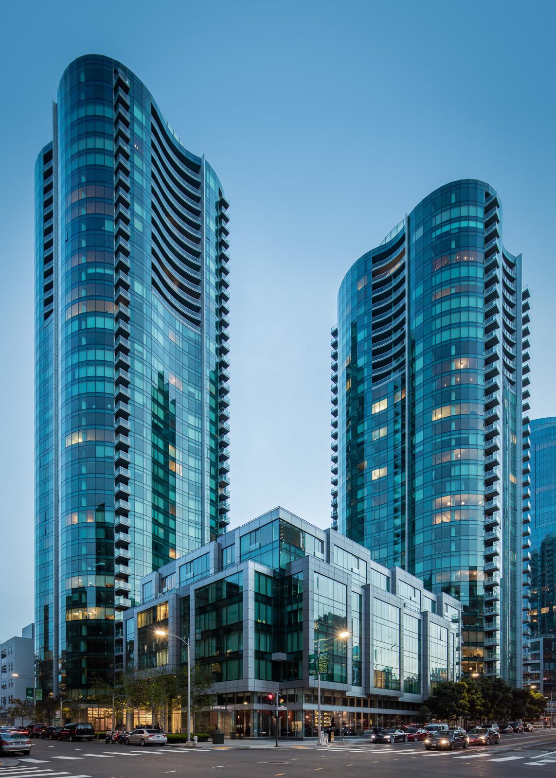 Infinity Towers, San Francisco, CA - Heller Manus / Arquitectonica
