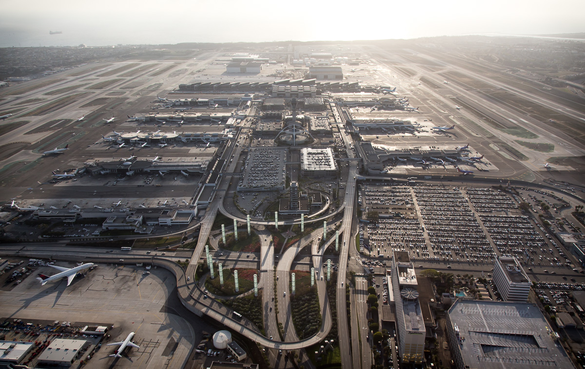 LAX in 2014, a still unfinished TBIT, and a lot of cars