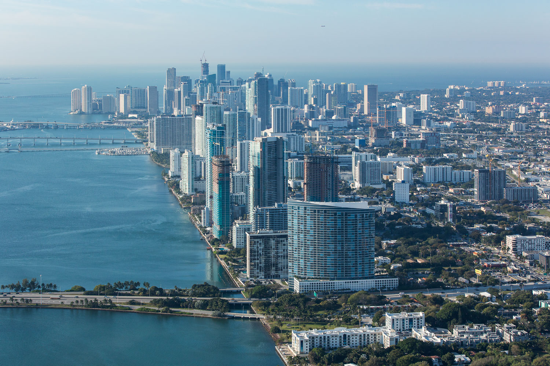 Marina Blue and the Miami skyline behind