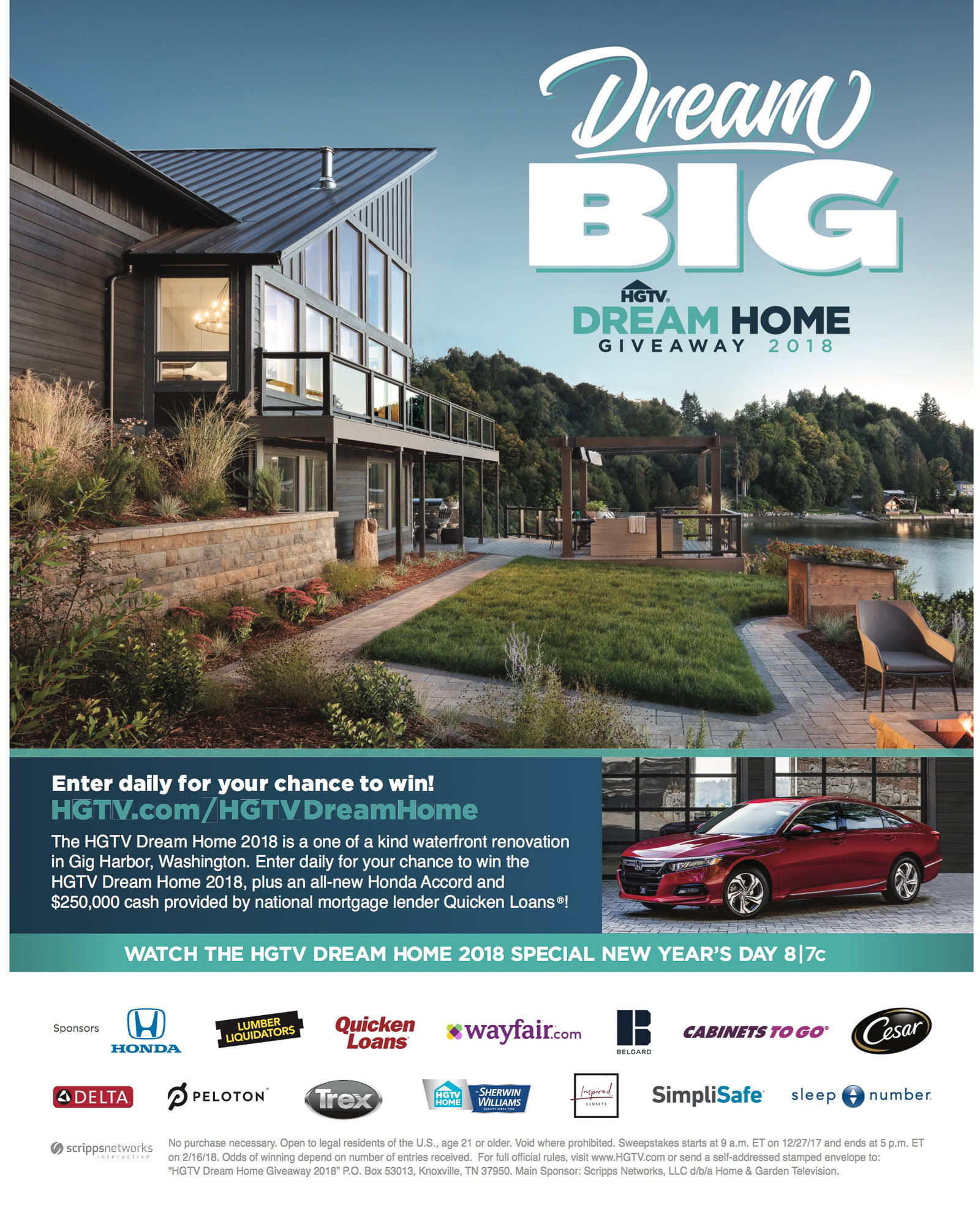HGTV: Dream Home Giveaway 2018