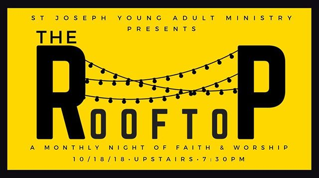 Hey friends! We're back with The Rooftop this Thursday at 7:30pm...rain or shine! #stjosephya