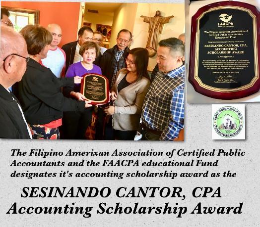 Sesinando Cantor, CPA Accounting Scholarship Award.jpg