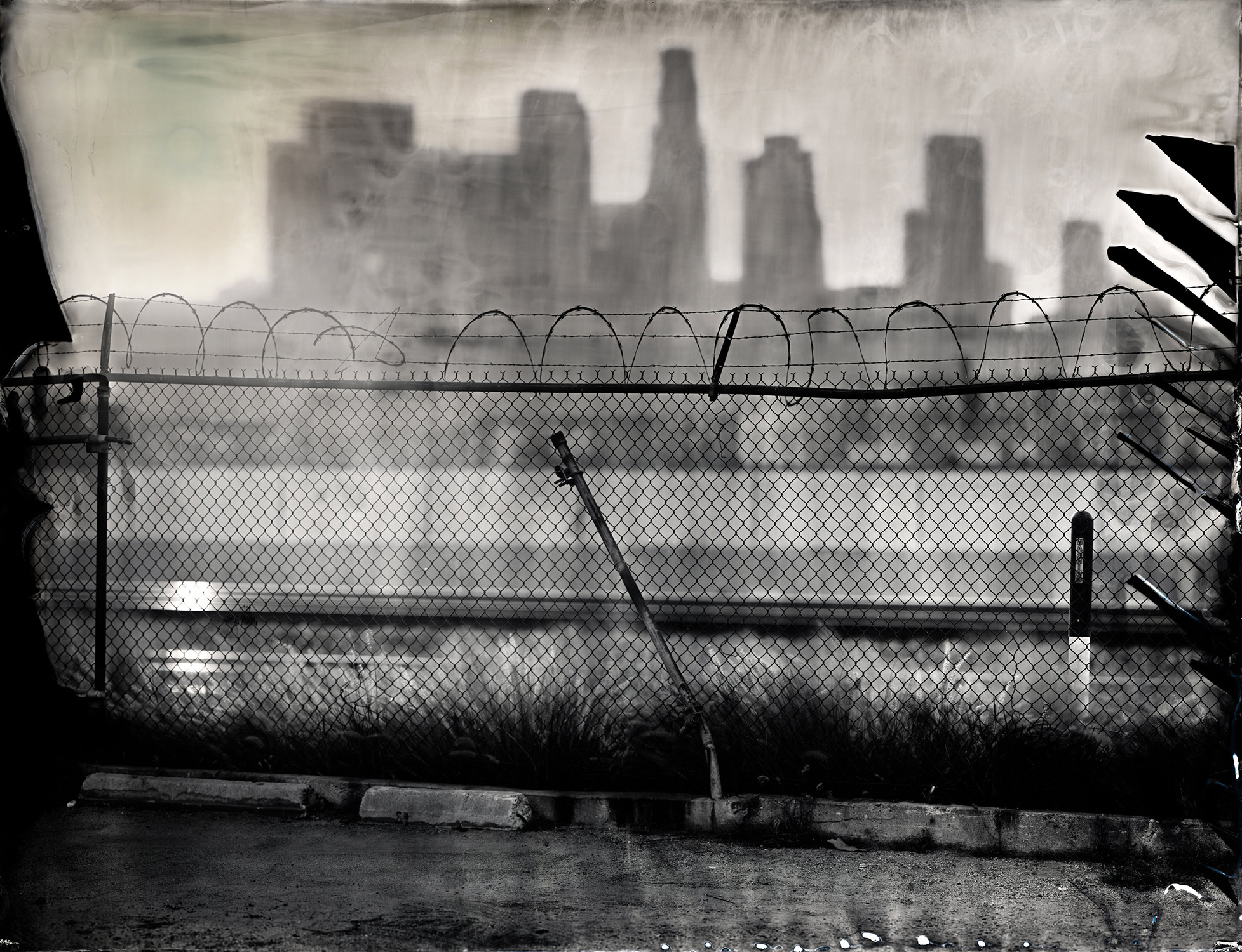 """LA Skyline"" - 27''x35"" Tintype - 2012"