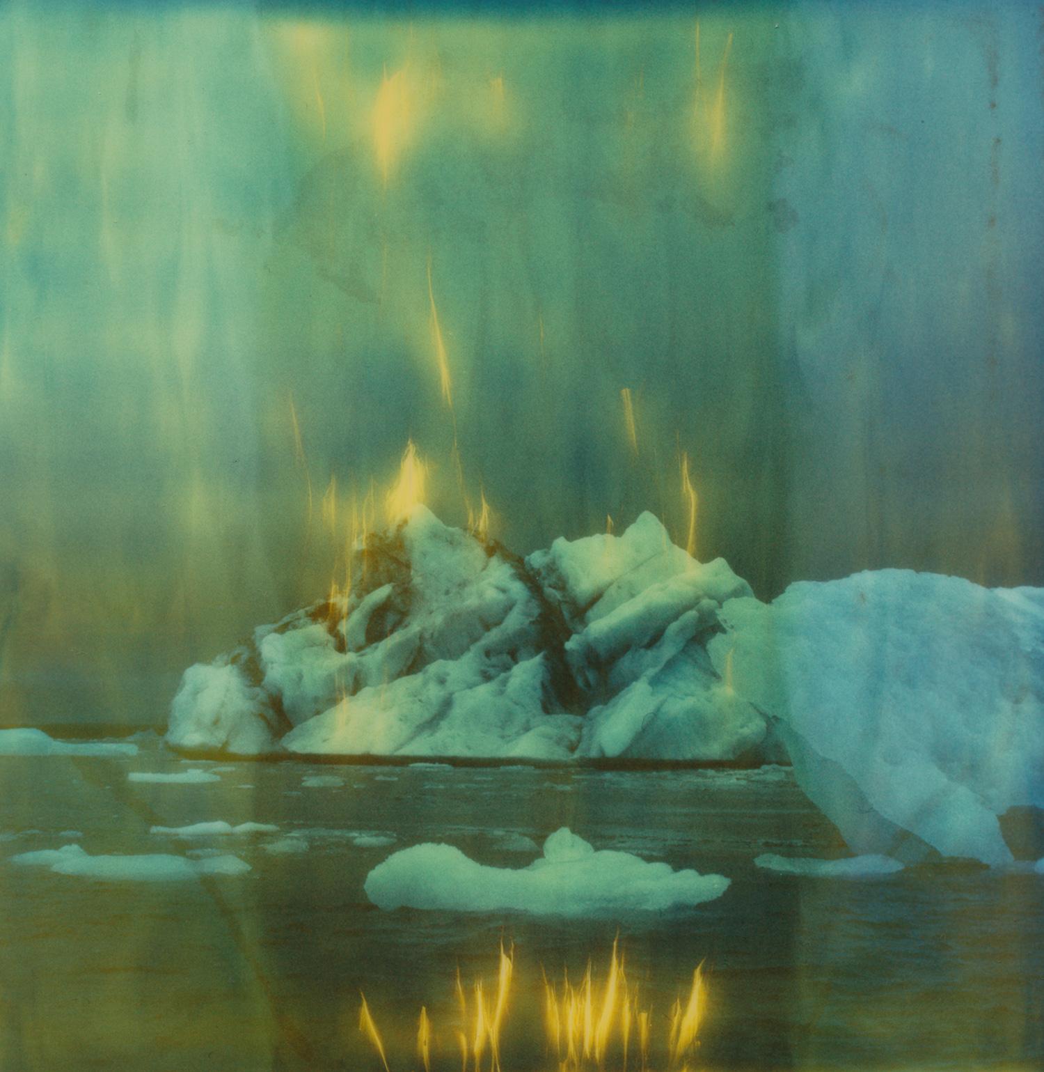 """Burning Down The Ice"" by  Jennifer Rumbach  | Polaroid SX-70 + Expired Polaroid Time Zero Film"