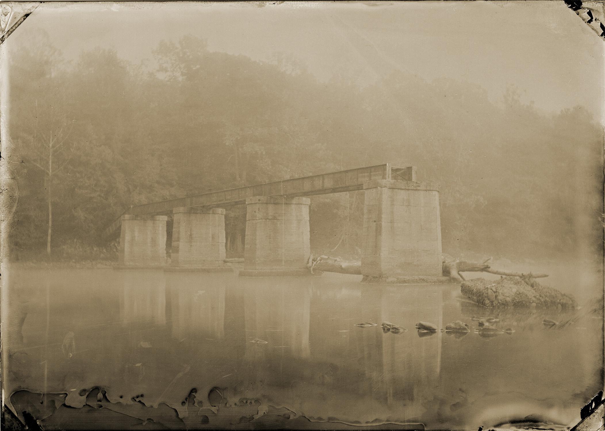 """Bridge in Fog (Albright, WV)"" by David R. Cerbone"