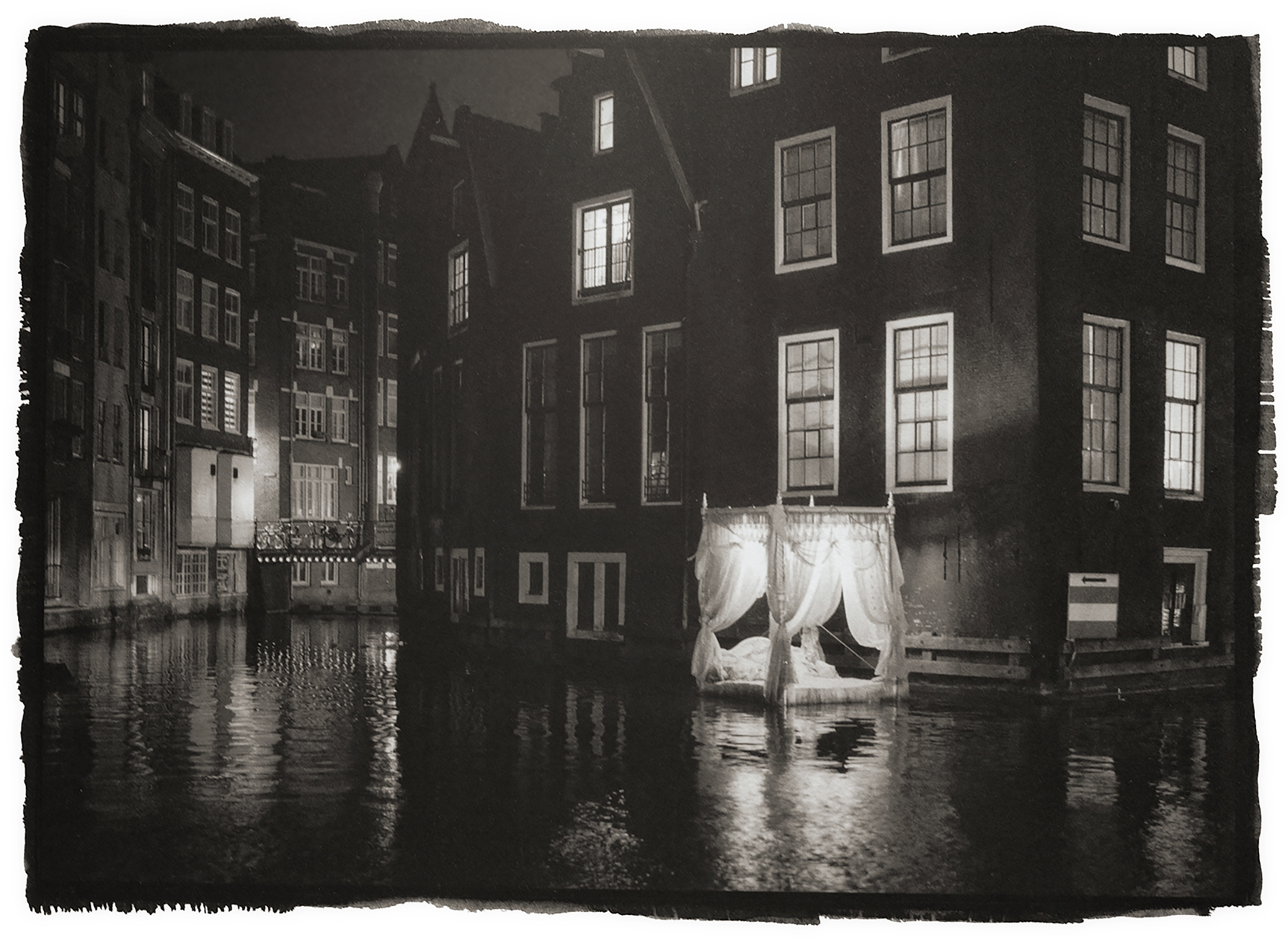 """Floating bed - Amsterdam"" by Tony McLean"