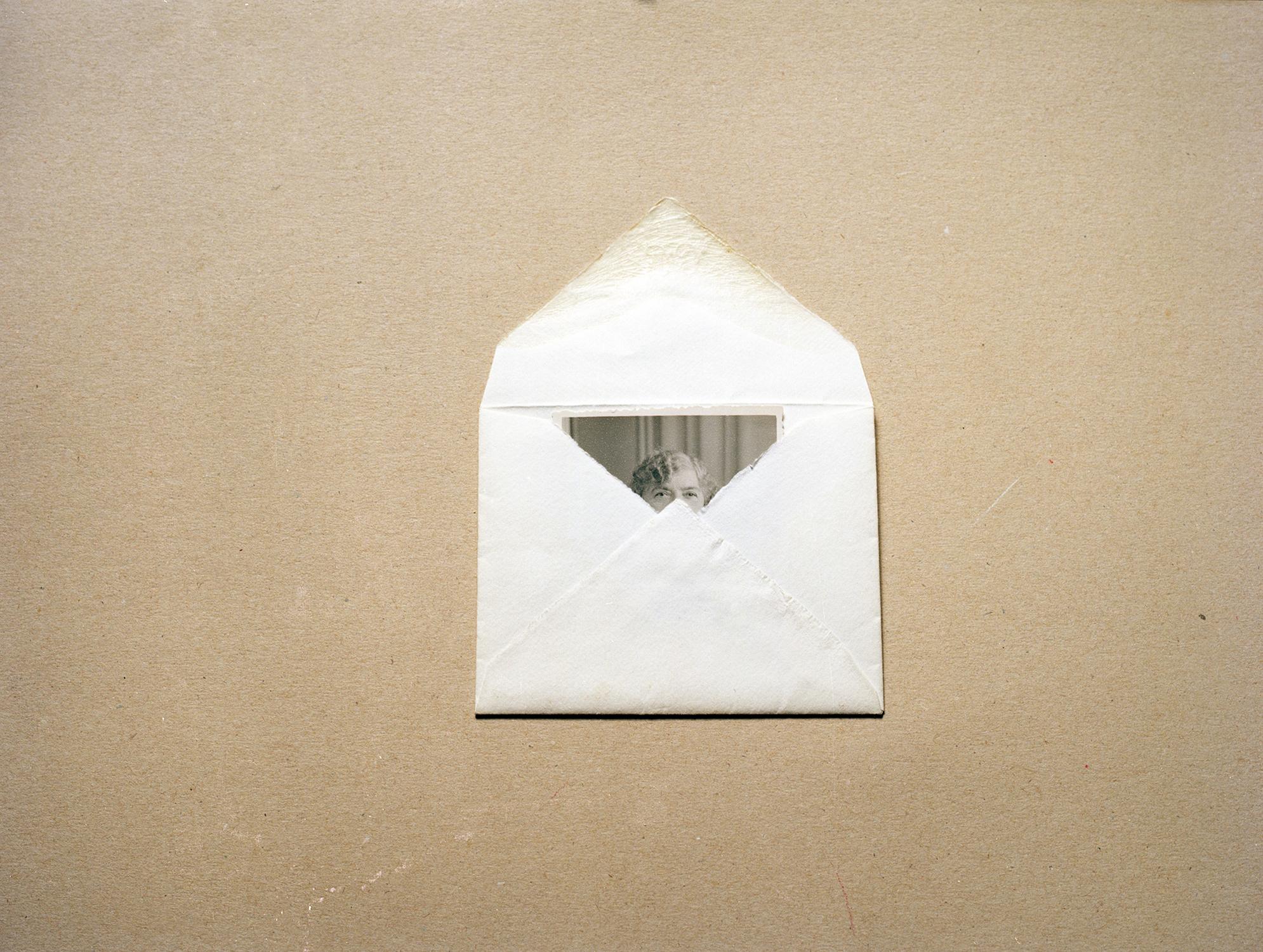 """Lady in Envelope, Israel, 2012"" by Dana Stirling"