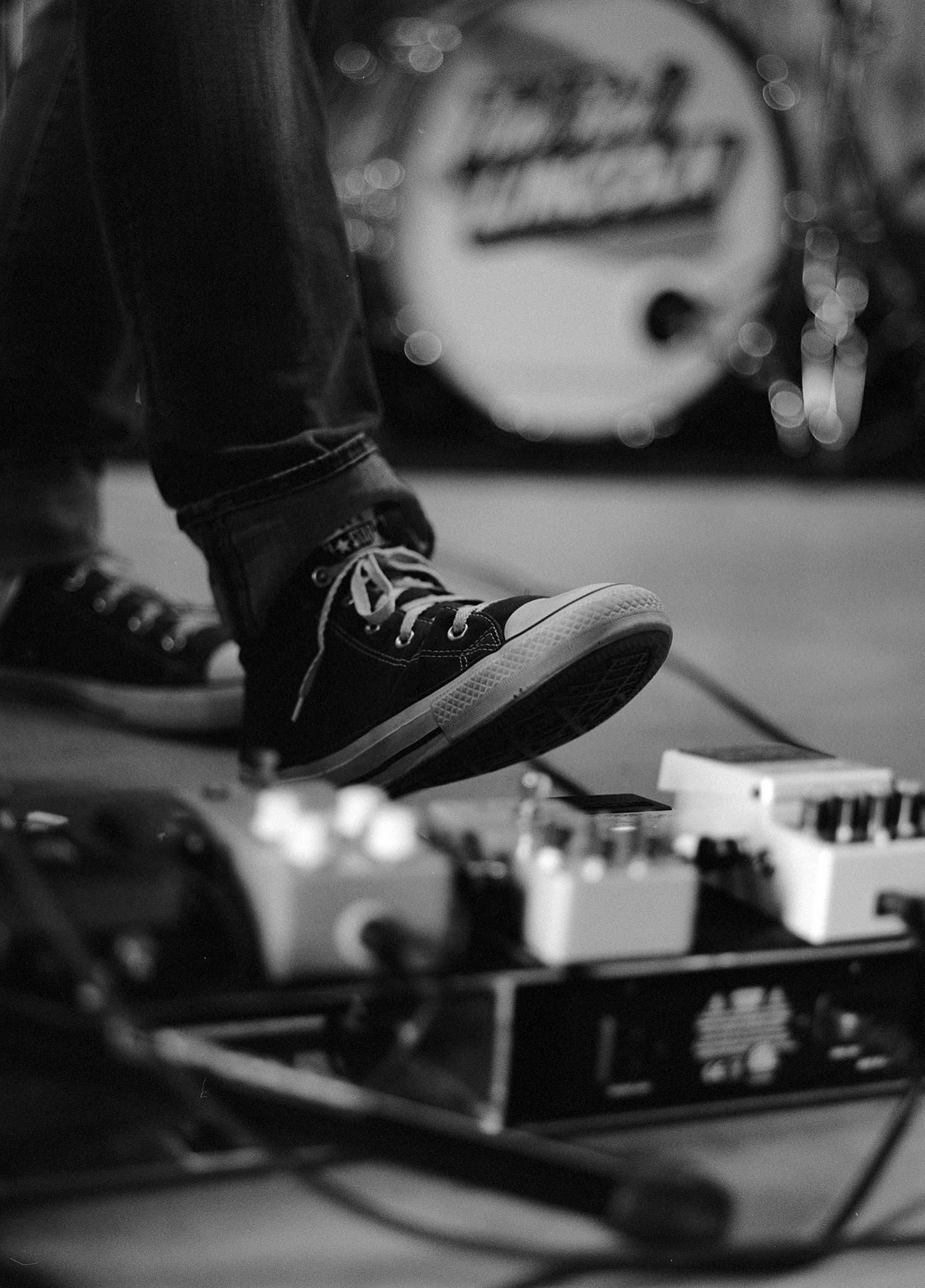 """""""Working the pedal Board"""" by Dan Sandersfeld"""