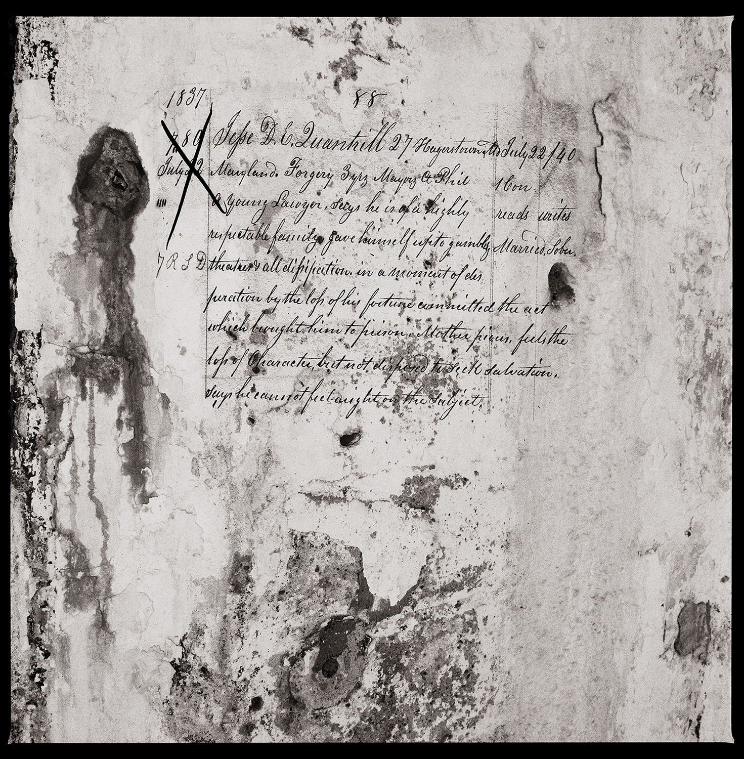 """""""Jefse DE Quantrill"""" from the series  Thou Art…, Will Give…"""