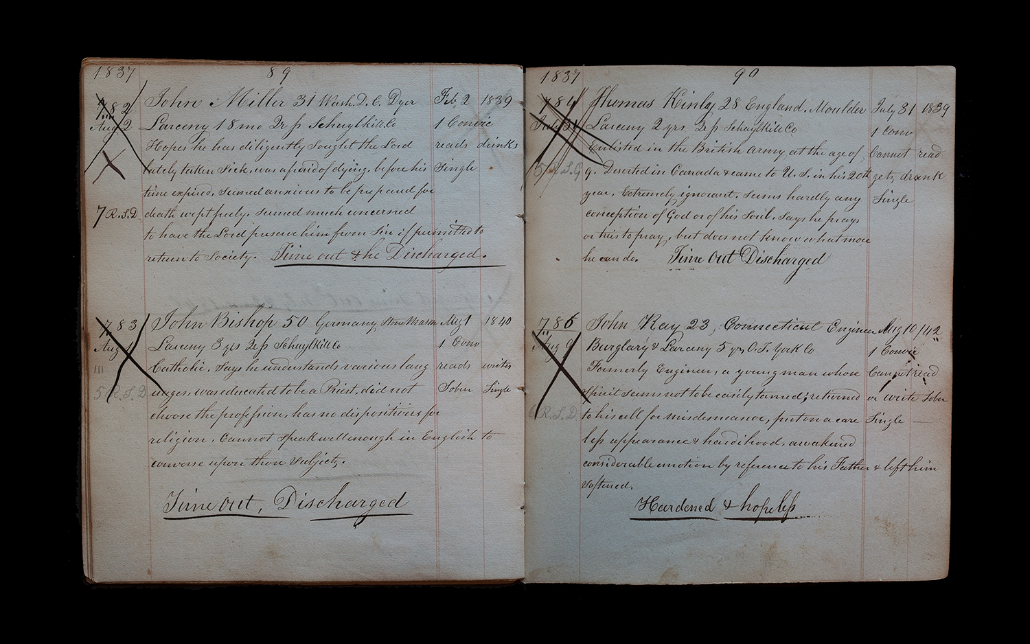 """""""Wardens Logbook 1837 (782-786)"""" from the series Thou Art…, Will Give…"""