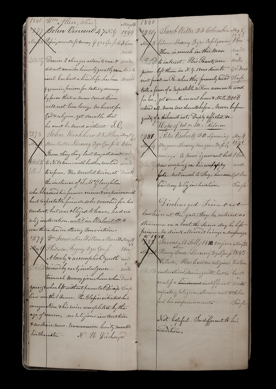 """""""Wardens Logbook 1840 (277-282)"""" from the series Thou Art…, Will Give…"""