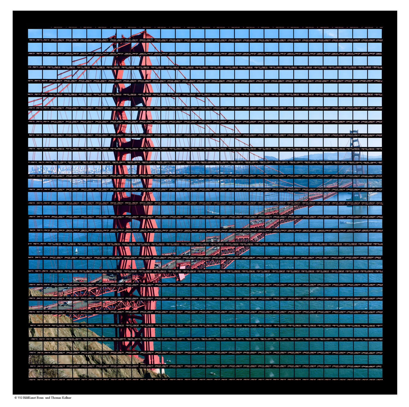 "San Francisco, Afternoon at Golden Gate Bridge , 2004, C-Print, 91cm x 90cm / 35,83"" x 35,43"""
