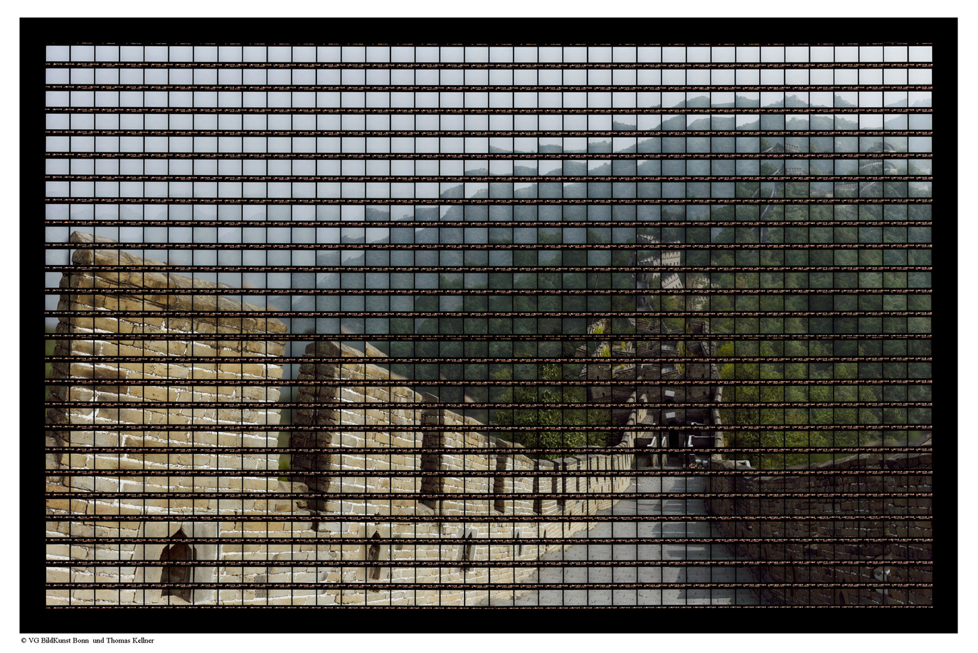 "Beijing, Great Wall of Mutianyu 1 , 2006, C-Print, 136,5cm x 87,5cm / 53,74"" x 34,45"""