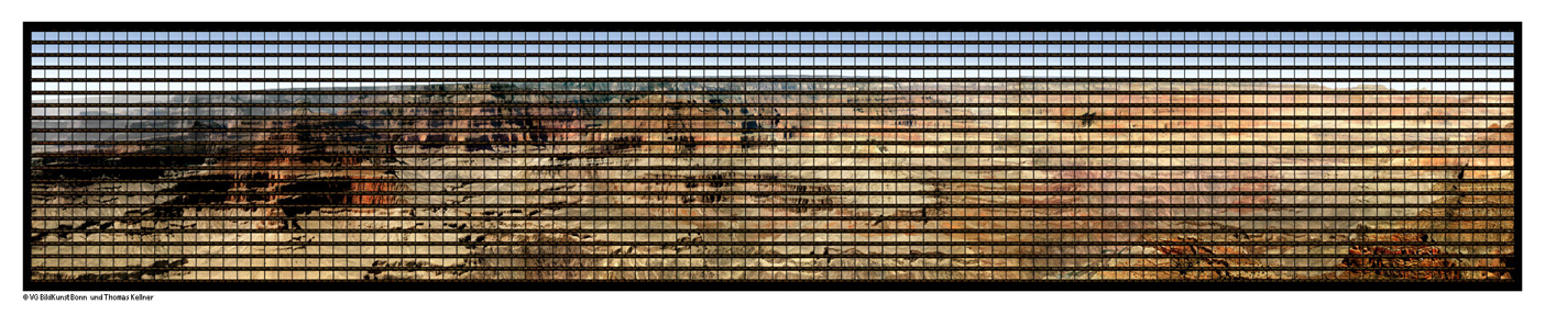 "Grand Canyon , 2014, C-Print, 416cm x 75cm / 163,78"" x 29,53"""