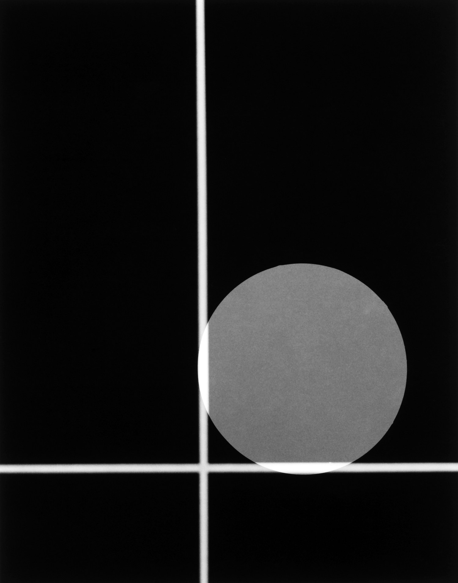 """""""Negative #18-009-14 with Circular Photogram"""" by Philip V. Augustin"""