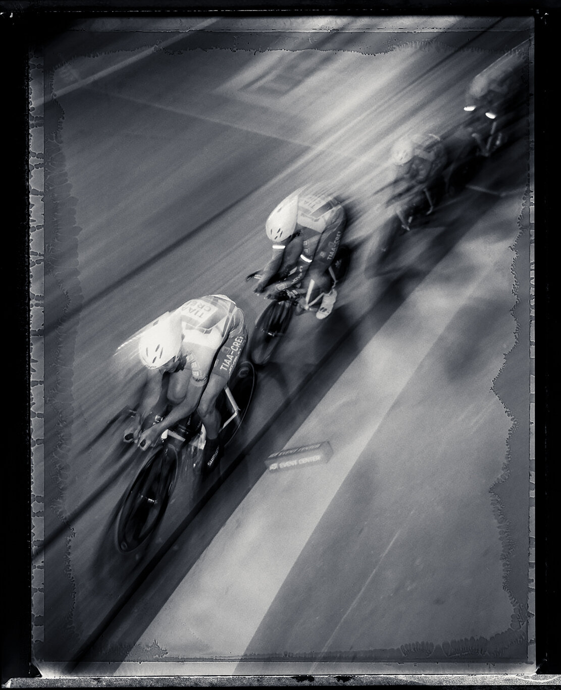 """""""Olympian Track Team Pursuit."""" by Nelson Machin"""