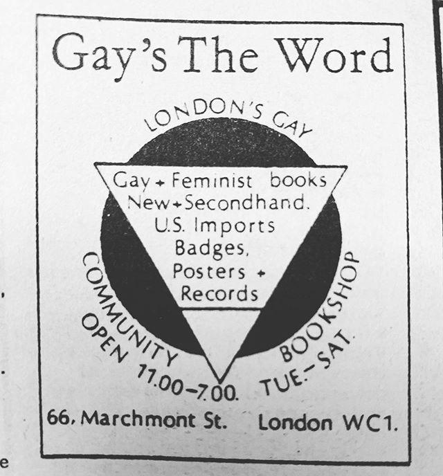 @gaysthewordbookshop Advert in Spare Rib Magazine 1980