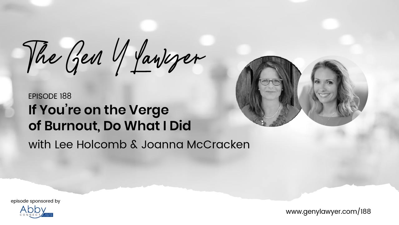 "Are You on the Verge of Burnout?  - Joanna and I recently had an opportunity to talk with Nicole Abboud about lawyers, yoga, and meditation. This podcast takes a real-life look at how quickly our jobs can start to control our lives! And you guessed it - how yoga and meditation helped Nicole realize that ""giving it your all"" isn't always the best choice. Take a listen to get yet another lawyers viewpoint on the benefits of yoga and meditation, as well as, some of the common misconceptions."