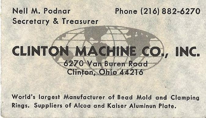 About — Clinton Machine Co