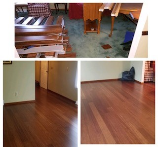 Cali Bamboo before and after in the dining room!