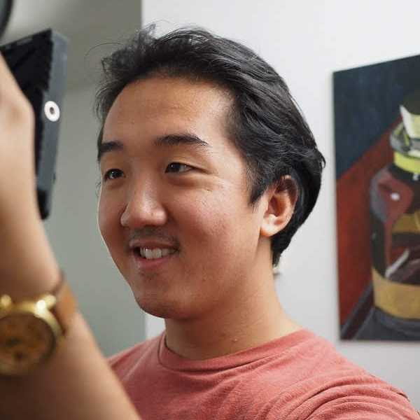"""Andrew Nguyen on the set of """"Pillow Talk"""""""