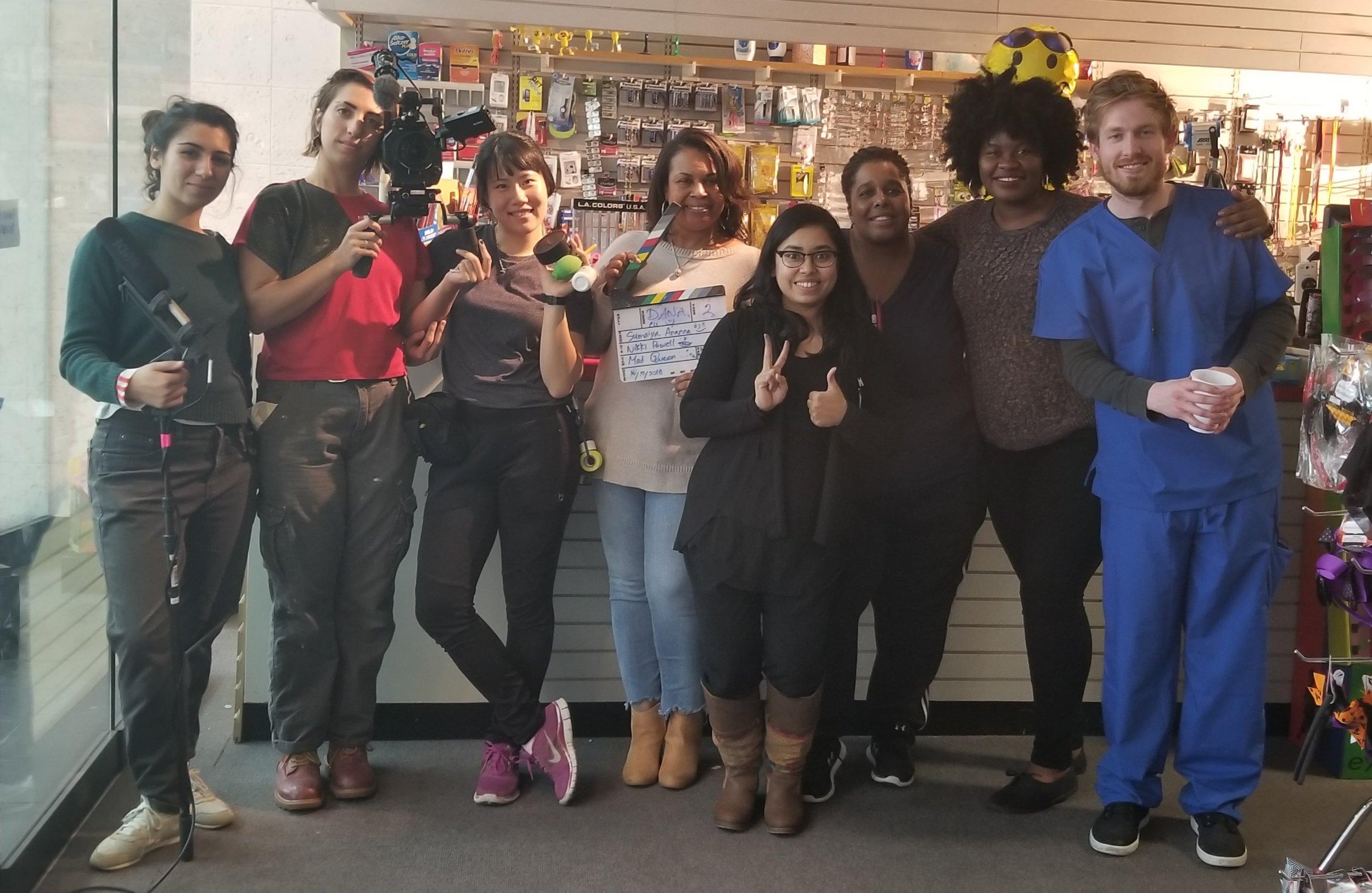 Cast and Crew from Inconvenient Encounter - Emily Kofsky, Maddie Becker, Minji Kim, Dana Scott, Sumaiya Ananna, Nicole Powell, A'Shonte Jones, and Jonathan J. Ryan