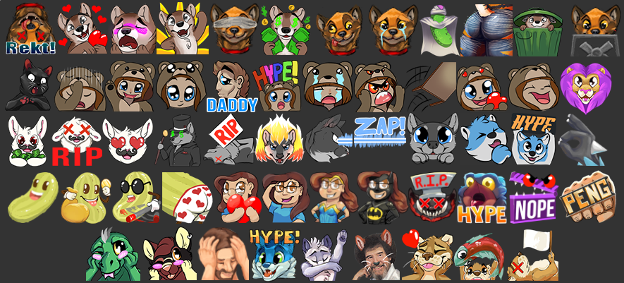 Twitch Emotes: $35 Twitch Affiliate Special: 3 for $90