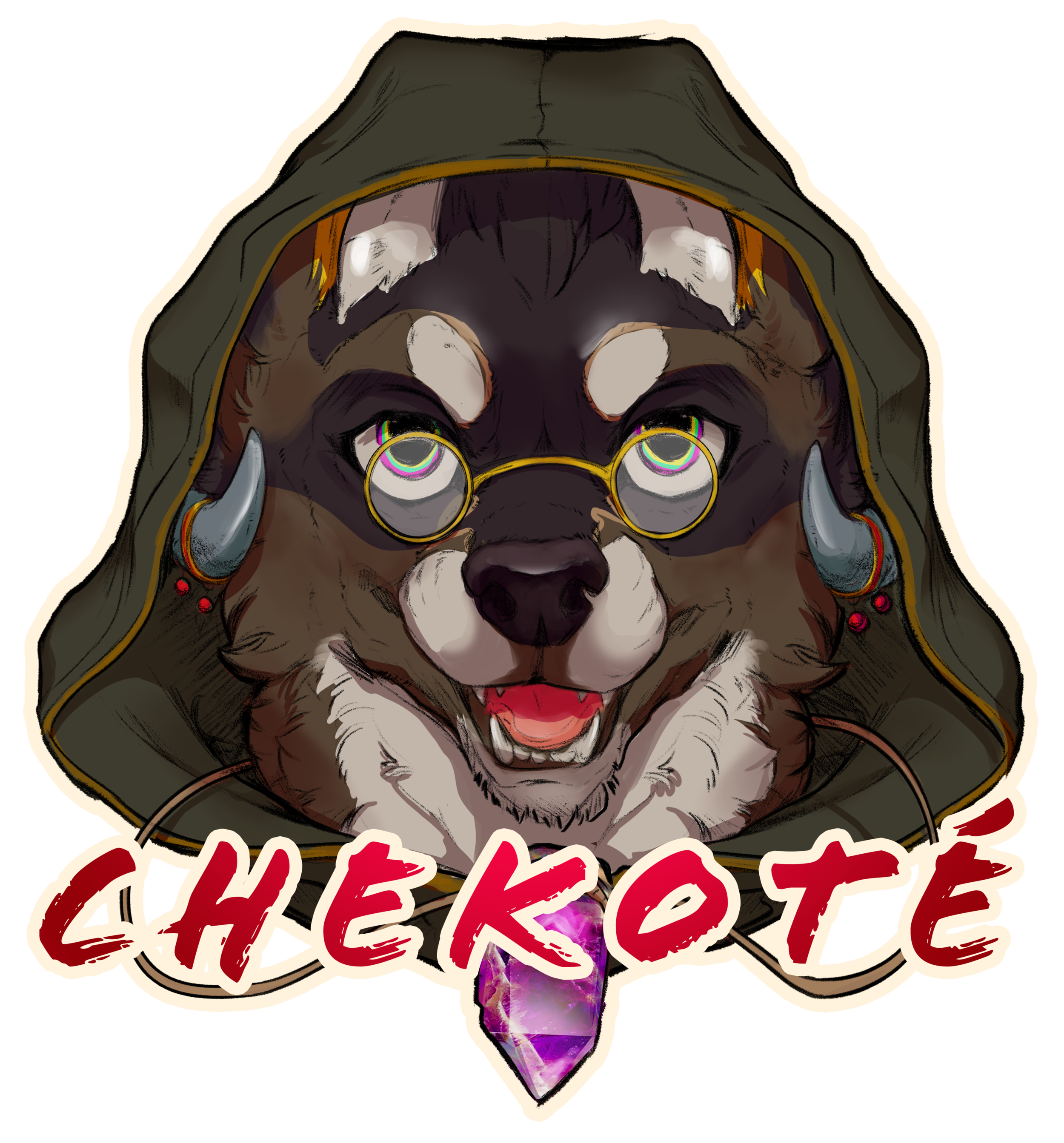 "Rough Shaded Portrait Badges: $125+   – Rough Shaded Portrait Badges are $125 – Loosely rendered, digitally painted head shots – Shows character from the neck up, character name, no background – Finished size roughly 4""x6″"