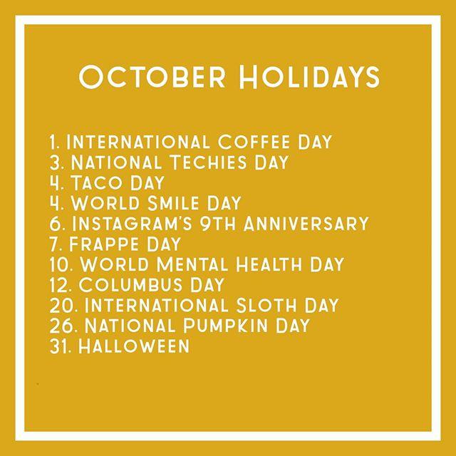 Happy October!   Here are a few reasons to celebrate! 🎉    #smallbusinessstrategy  #socialsociety  #keepsocialmediasocial #digitalstrategy  #marketyourbiz #creativesocialmedia #Successfulsocialmedia #socialmediatips #socialmediamanager