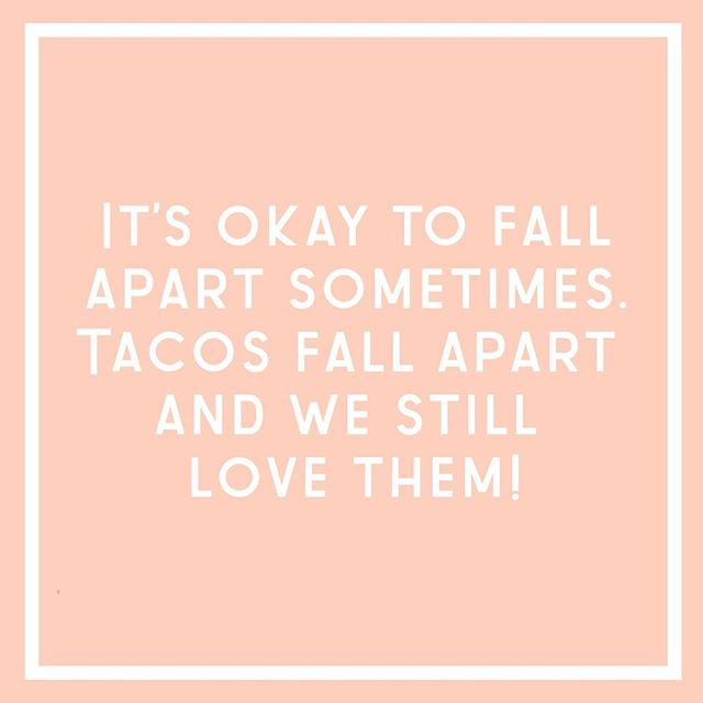 Let's taco 🌮 'bout how hard it can be to keep it all together sometimes as a small business owner!   If you currently feel like you are falling apart, you are not alone. Take a step back, make a fresh start and remember it's okay to ask for help when you need it!      #smallbusinessstrategy #keepsocialmediasocial #smallbusinesslove #entrepreneurmotivation #dreamersanddoers #passionpreneur #gritandvirtue #successmindset #daretodream #quityourdayjob #goalchaser #dailyhustle #lifeoffreedom