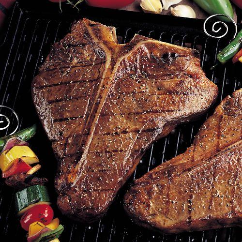 Aged Porterhouse T-Bone Steaks