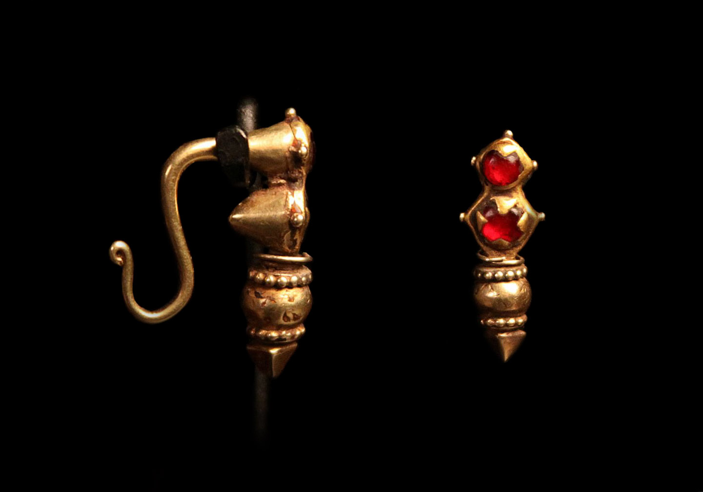Gold Ruby Nose Ring