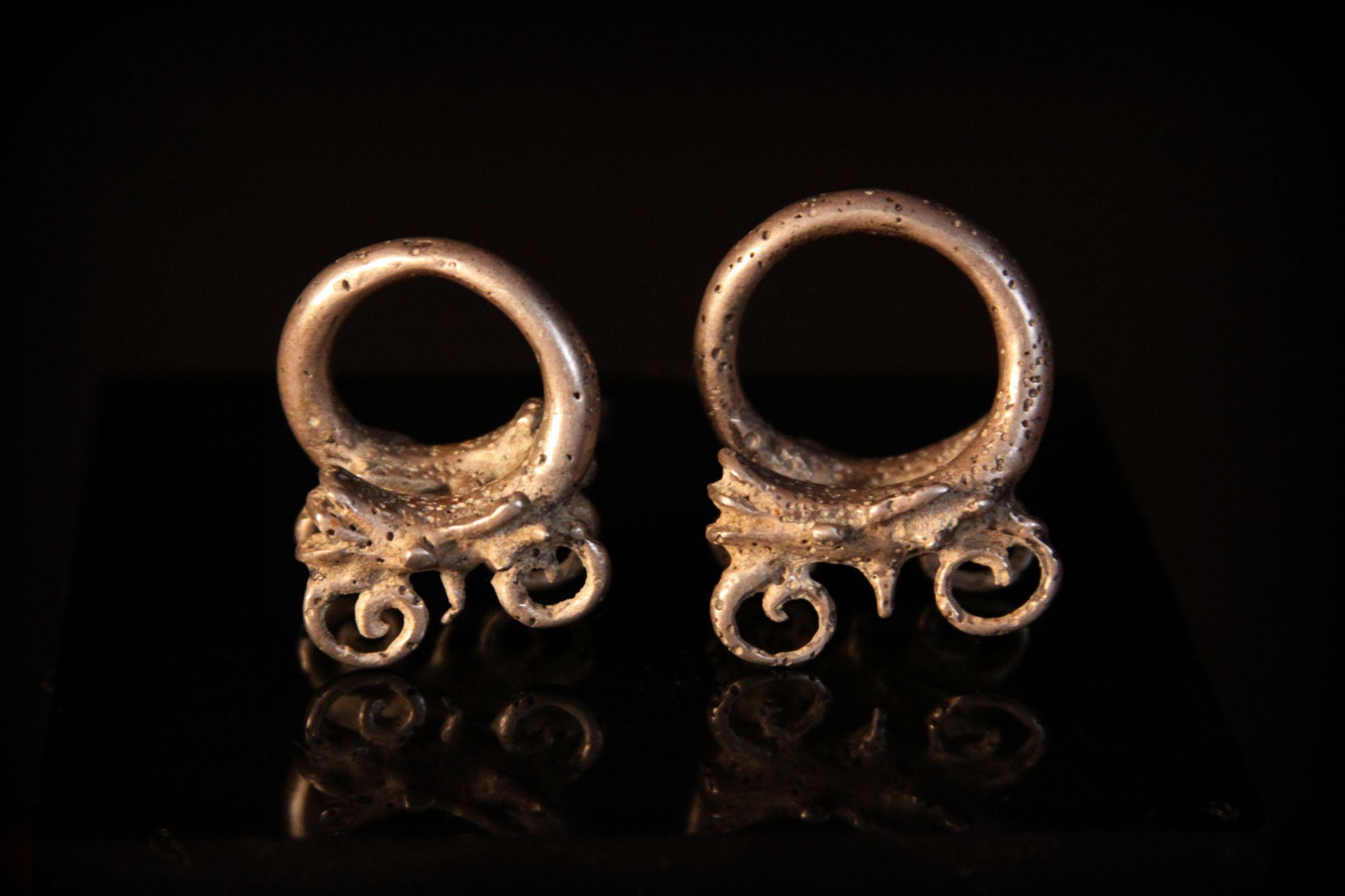 Rare Antique Silver Aso Earrings. Kelabit tribe. Borneo, Malaysia.jpg