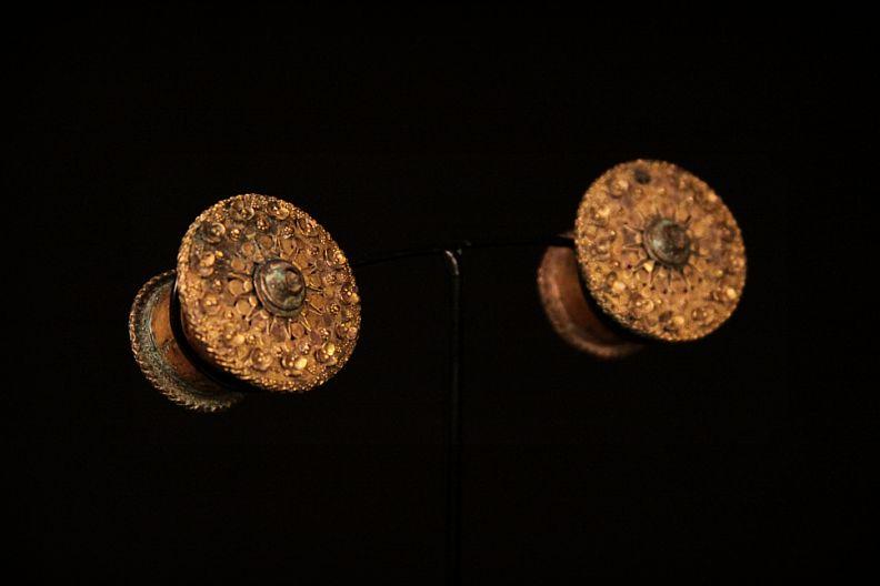 Rare Gilted Ear Plugs . Java, Indonesia .jpg