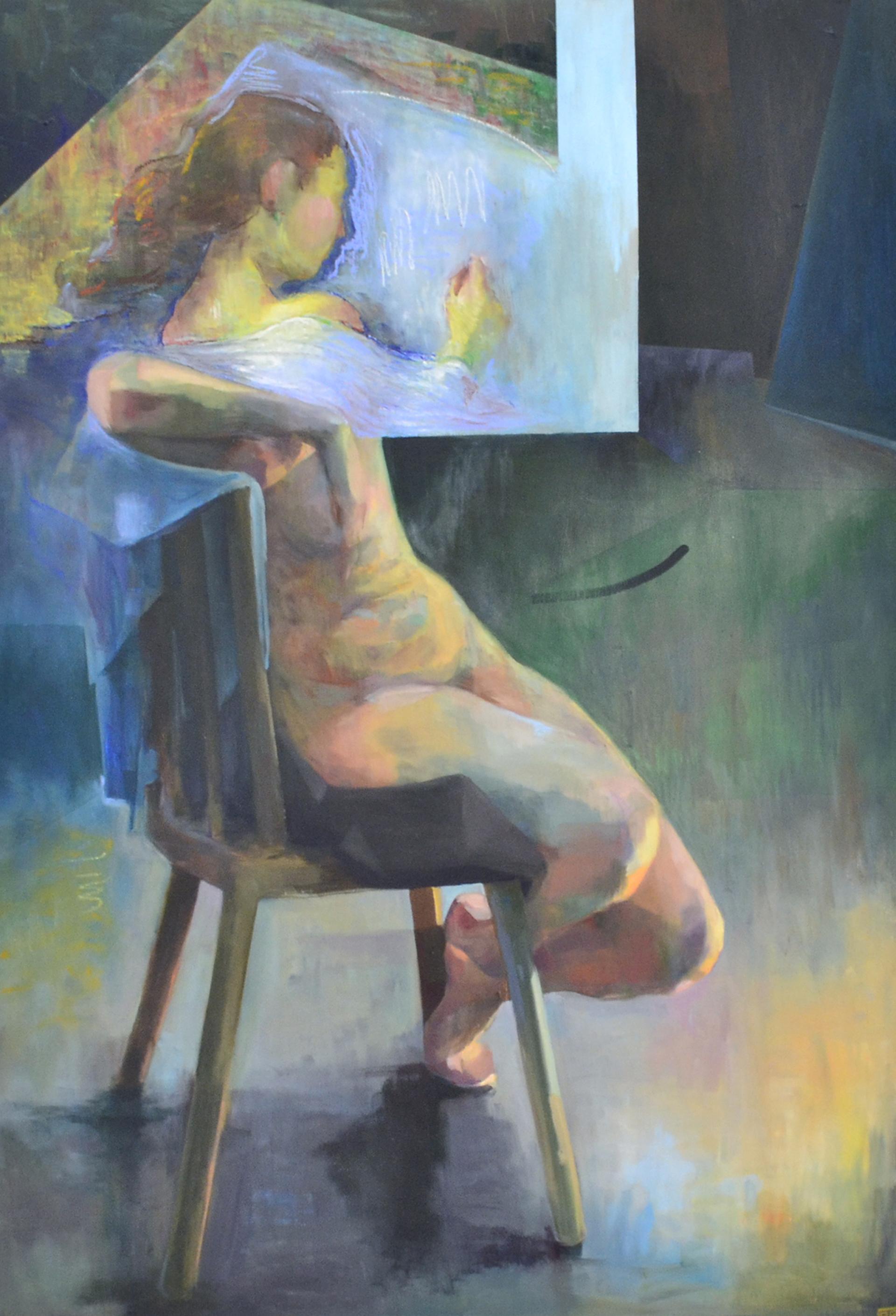 Drifting Away, peinture inspirée par ces heures d'immobilité méditative