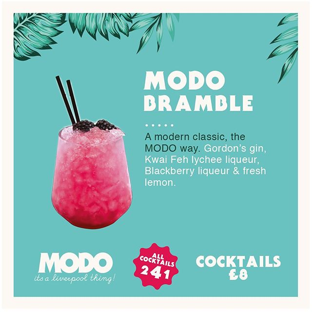 2-4-1 Cocktails!  come try our new summer menu!  #cocktails #modo #modiverpool #concertsquare #gin #summer