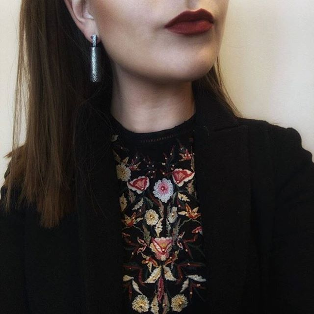 @harrietroseknight wearing my earrings. You can find them on @continued_collective online shop link in my bio. #continuedcollective #onlineshop #jewellery #earrings #collective #silver